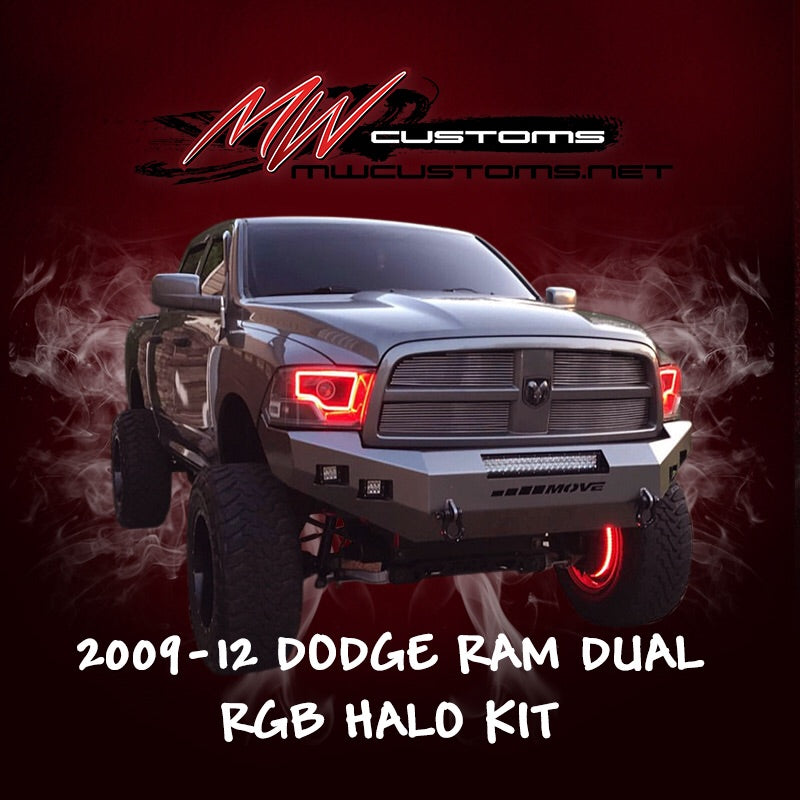 2009-12 DODGE RAM DUAL RGB HALO KIT - MwCustoms