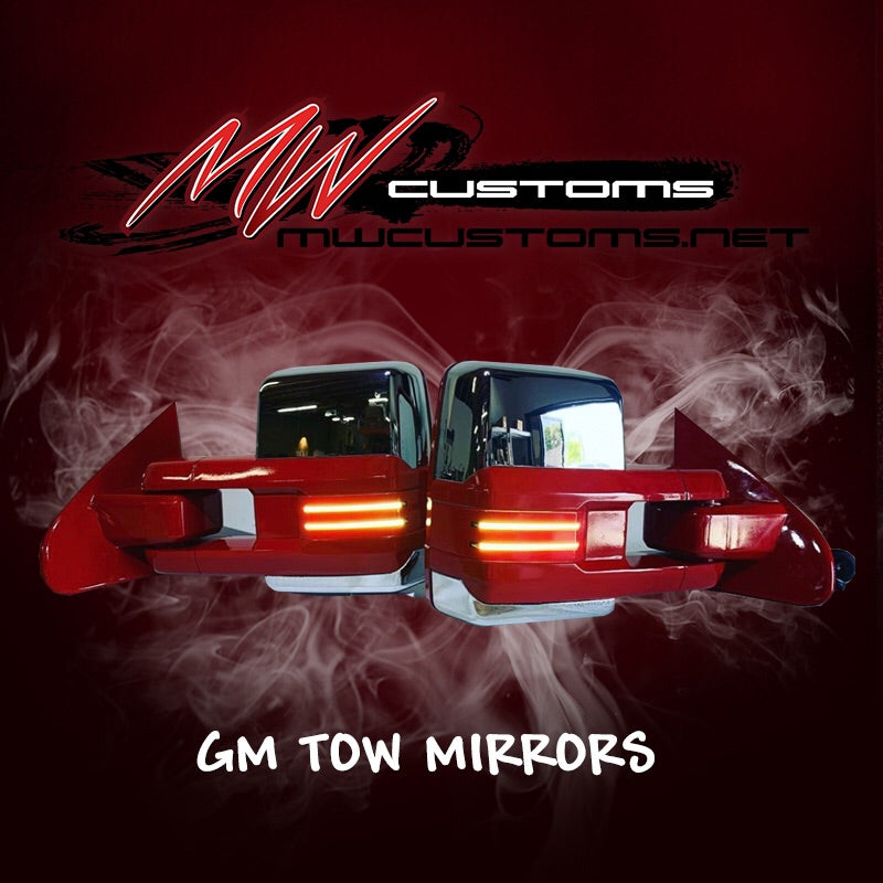 CUSTOM GM TOW MIRRORS 88-19 - MwCustoms