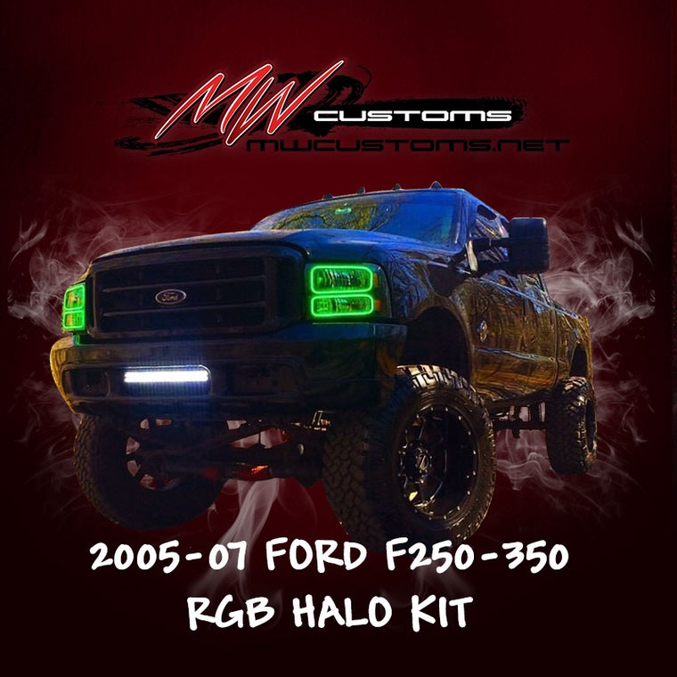 2005-07 FORD F250-350 RGB HALO KIT - MwCustoms