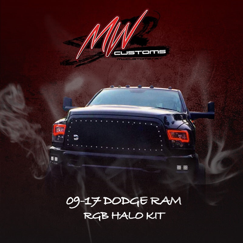 2009-14 DODGE RAM RGB HALO KIT - MwCustoms