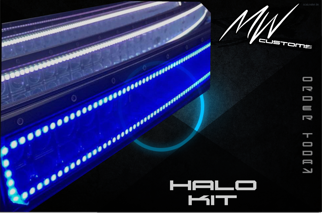 PRE-BUILT RGB HALO LIGHT BARS- CURVED - MwCustoms