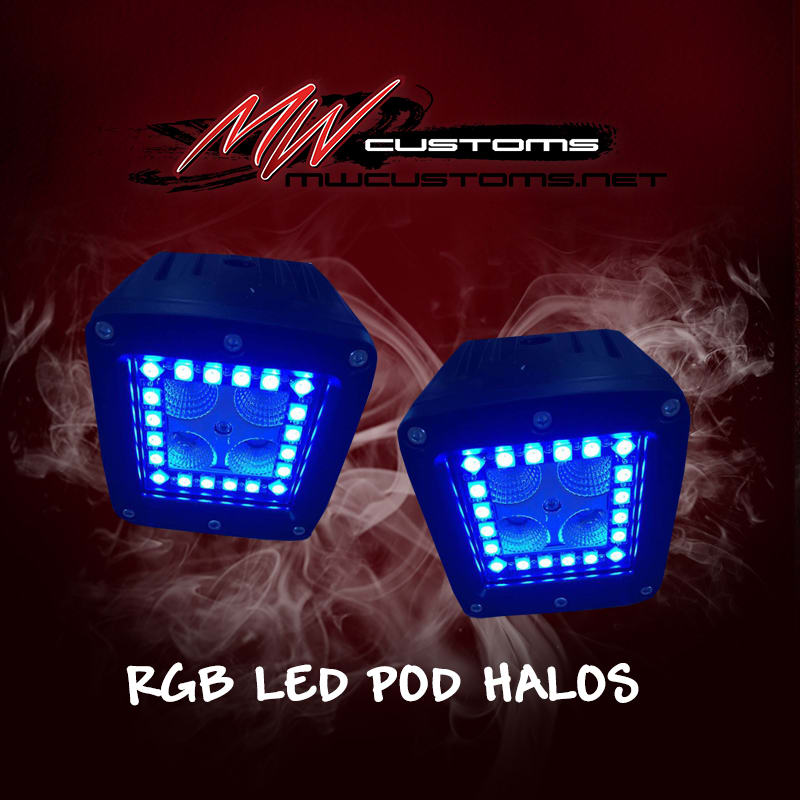 PRE-BUILT RGB HALO LED PODS - MwCustoms