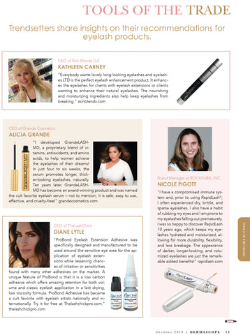 Tools of The Trade Dermascope magazine Oct 2018