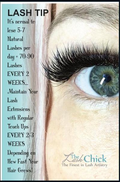 Lash Care after care card - TheLashChick