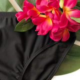 CURVY SIZES Black Swim Bottoms