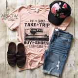 """Life is Short"" Peach Tee - Arrow Twenty Two"