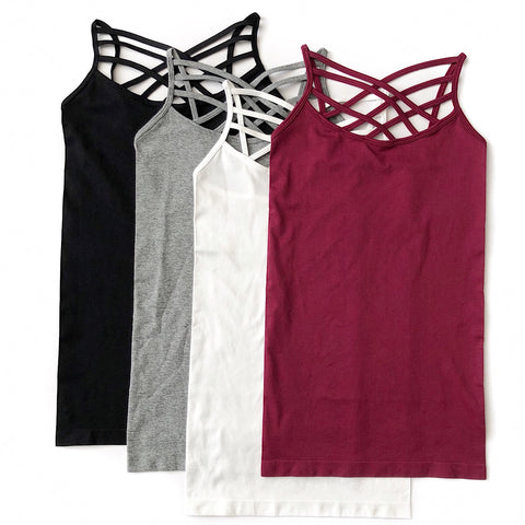 NEW! Seamless Criss Cross Strap Tank Top