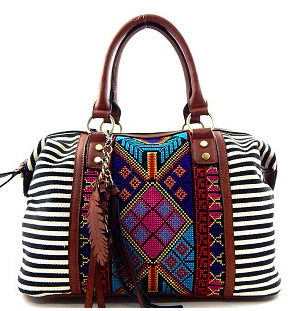 Striped Aztec Purse - Arrow Twenty Two