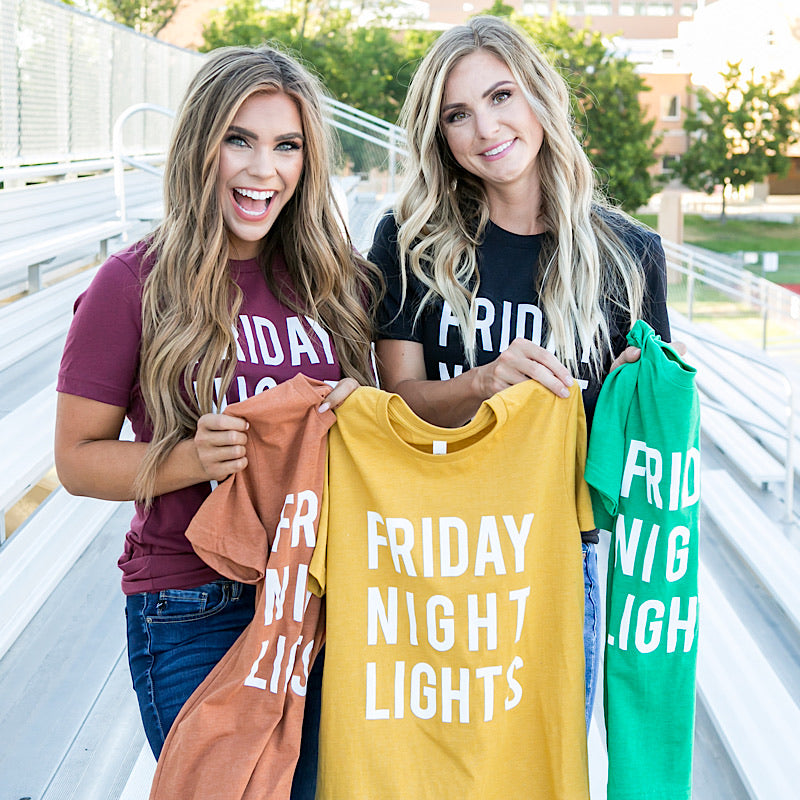 NEW! Friday Night Lights Tee - 5 Colors - Arrow Twenty Two