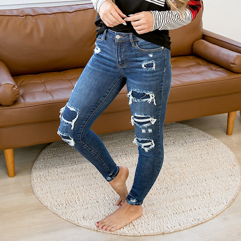 NEW! Judy Blue Harper Patched Jeans - Arrow Twenty Two