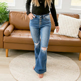 NEW! KanCan Sydney Flare Jeans - Petite - Arrow Twenty Two