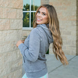 Ruby Gray Burnout Favorite Hoodie - Arrow Twenty Two