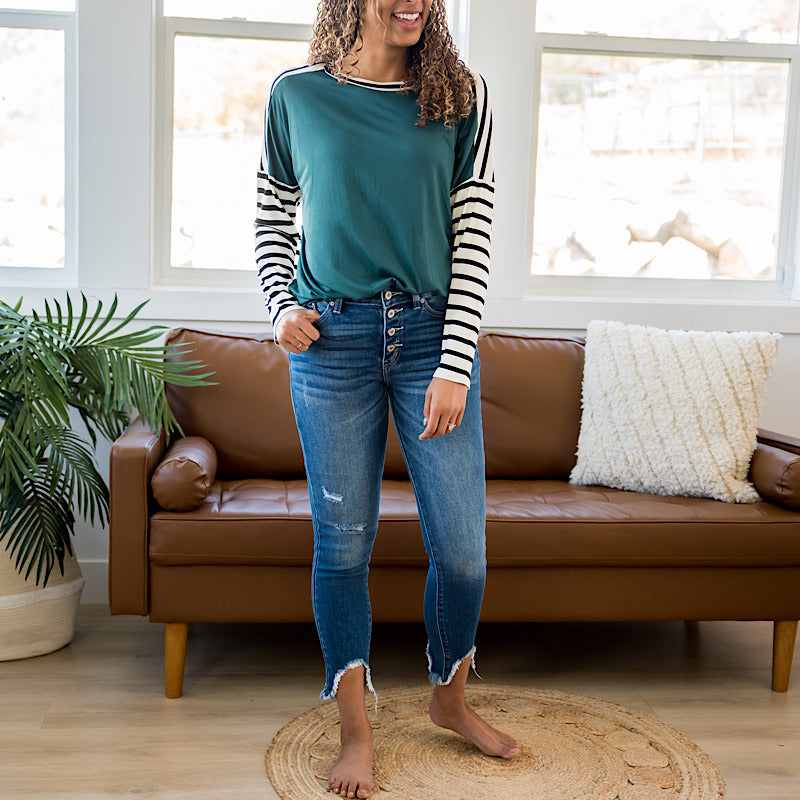 KanCan Bria Ankle Bite Jeans - Arrow Twenty Two