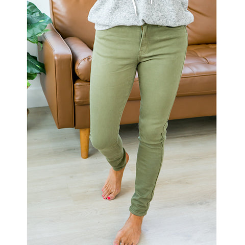 NEW! KanCan Arianna Light Olive Jeans - Arrow Twenty Two
