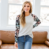 NEW! Bristol Pastel Striped and Leopard Sleeve Top - Arrow Twenty Two