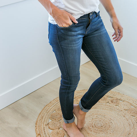NEW! Judy Blue Dark Wash Katie Non Distressed Jeans - Regular and Plus! - Arrow Twenty Two