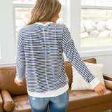 NEW! Londyn Faded Navy Striped Top - Arrow Twenty Two