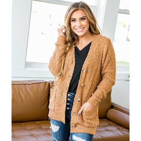 Caramel Popcorn Cardigan - Arrow Twenty Two