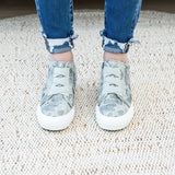 NEW! Blowfish Mamba Gray Splatter Camo Wedge Sneaker - Arrow Twenty Two