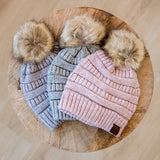 CC Pom Beanie - 3 Colors - Arrow Twenty Two