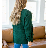 Hunter Green Popcorn Cardigan - Arrow Twenty Two