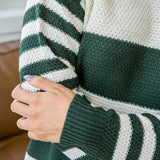 NEW! Kinley Hunter Green and Ivory Striped Sweater - Arrow Twenty Two