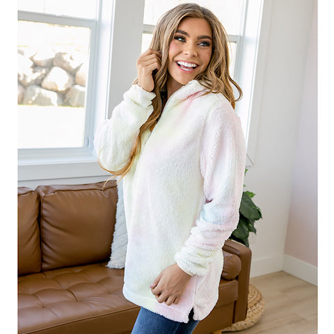 NEW! Cotton Candy Fleece Half Zip Pullover - Arrow Twenty Two