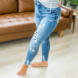 KanCan Julia Patched Jeans - Regular and Plus - Arrow Twenty Two