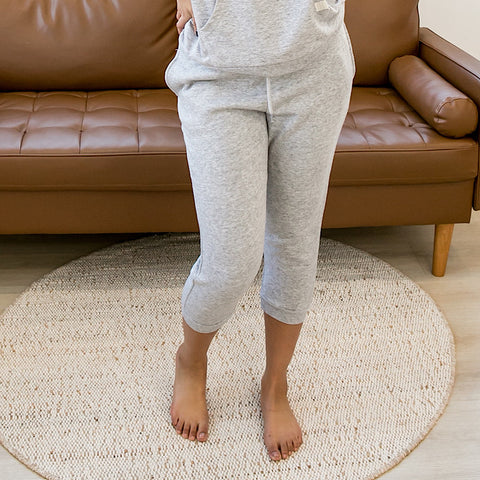 Heather Gray Capri Joggers