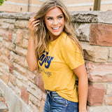 "NEW! ""Enjoy the Little Things"" Mustard Tee - Arrow Twenty Two"