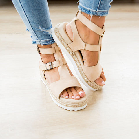 NEW! Very G Cassius Sandal - Nude - Arrow Twenty Two