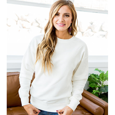 NEW! Bailey Ivory Burnout Favorite Sweatshirt - Arrow Twenty Two