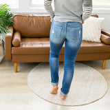 NEW! KanCan Natalie Patched Straight Jeans - Arrow Twenty Two