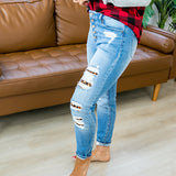 KanCan Eve Leopard Patch Jeans - Regular and Plus! - Arrow Twenty Two