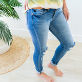 NEW! KanCan Bella Button Up Distressed Jeans - Regular and Plus! - Arrow Twenty Two
