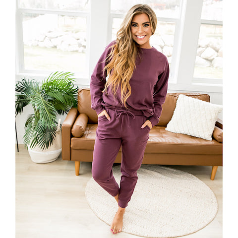DOORBUSTER! Plum Lounge Set