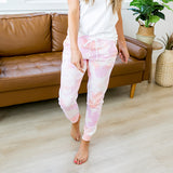 Pink and Peach Tie Dye Lounge Joggers - Arrow Twenty Two