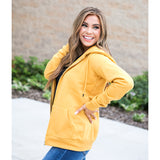 NEW! Favorite Mustard Full Zip Hoodie - Arrow Twenty Two