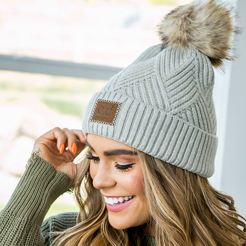 Diagonal Stripe CC Beanie - 5 Colors