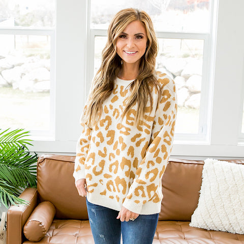 Ella Cream Leopard Sweater