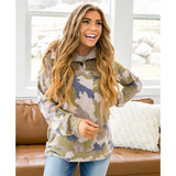 Camo Fleece Button Up Pullover - Arrow Twenty Two
