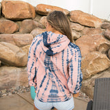 Pink and Navy Tie Dye Hoodie - Arrow Twenty Two