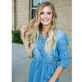 NEW! Lydia Denim Drawstring Dress - Arrow Twenty Two