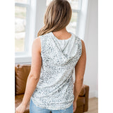 NEW! Elle Gray Leopard Hooded Tank - Arrow Twenty Two