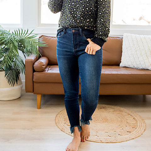 NEW! Judy Blue Marissa Fray Hem Jeans - Regular and Plus!