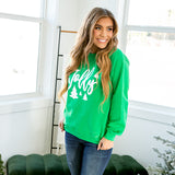 """Jolly"" Trees Green Sweatshirt - Arrow Twenty Two"