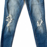 KanCan Distressed Knee and Fray Bottom Jeans - Arrow Twenty Two