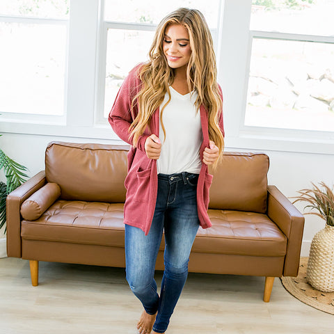 NEW! Clara Brick Cardigan