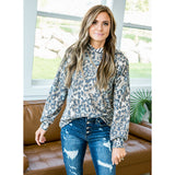 NEW! Veronica Leopard and Stripe Hooded Top - Arrow Twenty Two