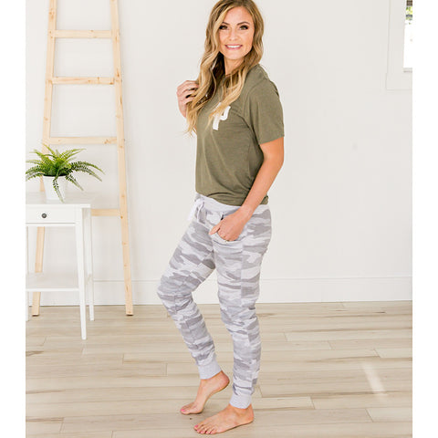NEW! Gray Camo Lounge Joggers